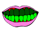 Coloring page Mouth and teeth painted byRachel  Jones