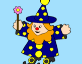 Coloring page Little witch painted byjulian