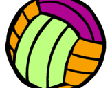 Coloring page Volleyball ball painted bycameron