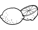 Coloring page lemon painted bya