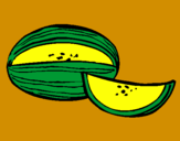 Coloring page Melon painted byMarga