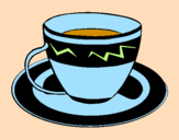 Coloring page Cup of coffee painted byraji