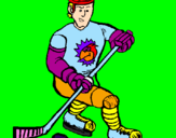 Coloring page Ice hockey player painted bynico