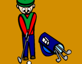 Coloring page Golf II painted byElian