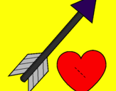 Coloring page Heart and arrow painted bylucasnr