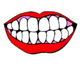 Coloring page Mouth and teeth painted byTHERESA