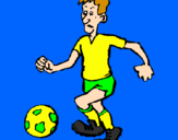 Coloring page Football player painted bypanayiotis