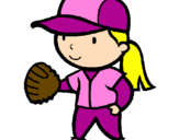 Coloring page Baseball player painted byAnna