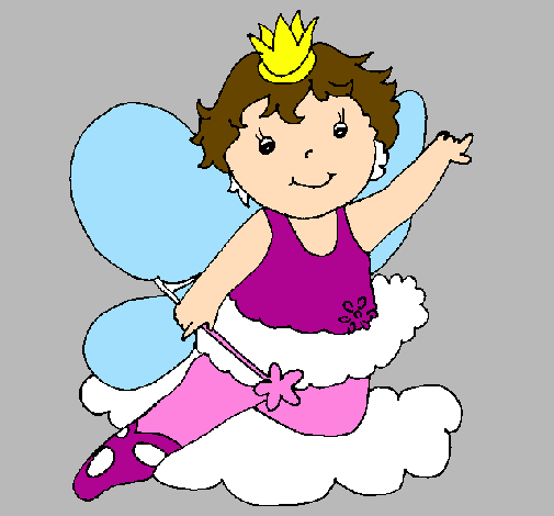 Coloring page Fairy painted byaron N