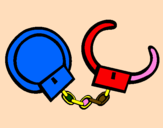 Coloring page Handcuffs painted byivanna@