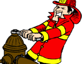 Coloring page Firefighter painted byleeann