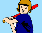 Coloring page Little boy batter painted byJohn