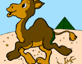 Coloring page Camel painted byluis
