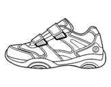 Coloring page Sneaker painted byshoe uncolored