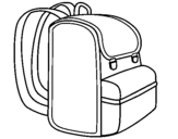 Coloring page Backpack painted bybag