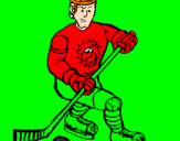 Coloring page Ice hockey player painted byeric m