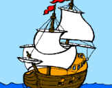 Coloring page Ship painted bylogan