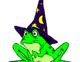 Coloring page Magician turned into a frog painted byYesha