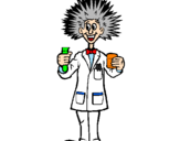 Coloring page Mad scientist painted bylogan