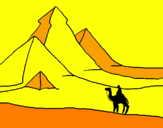 Coloring page Landscape with pyramids painted bymarrcos