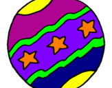 Coloring page Big ball painted byJimmy