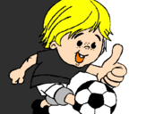 Coloring page Boy playing football painted bytodo poderoso tião