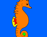 Coloring page Sea horse painted byrodolfo