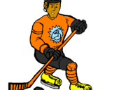 Coloring page Ice hockey player painted byNic