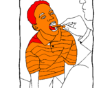 Coloring page Throat examination painted byANA SOPHIIA