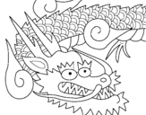 Coloring page Japanese dragon II painted bysherry