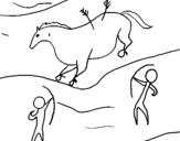 Coloring page Cave painting painted byme