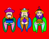 Coloring page The Three Wise Men 4 painted byipol