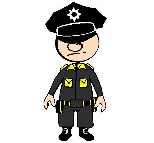 Coloring page Cop painted byNathan