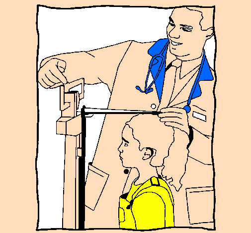 Coloring page Measuring height painted byNathan