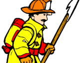 Coloring page Firefighter painted byNathan