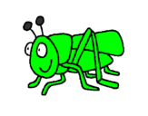 Coloring page Grasshopper 2 painted byRiley Gallgher