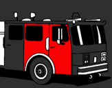 Coloring page Fire engine painted byryan