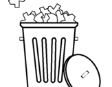 Coloring page Wastebasket painted bycv