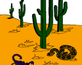 Coloring page Desert painted byADRIAN