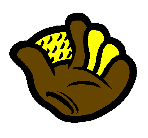 Coloring page Baseball glove painted byRATS