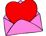 Coloring page Heart in an envelope painted bymariana - APAEMIR