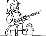 Coloring page Firefighter painted byhhhh