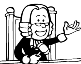 Coloring page Judge painted byjudge