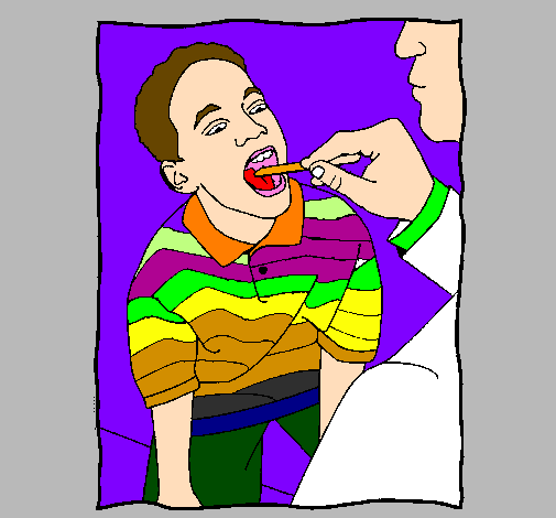 Coloring page Throat examination painted byleticr2