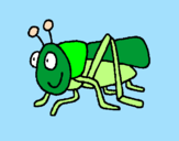 Coloring page Grasshopper 2 painted bychristina