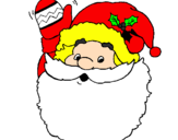 Coloring page Father Christmas waving painted bymarie cler