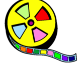 Coloring page Reel painted bycolor