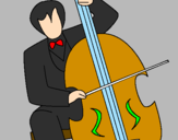 Coloring page Cello painted byL DRAGOA