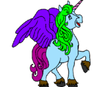 Coloring page Unicorn with wings painted byUnity Unicorn