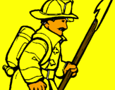 Coloring page Firefighter painted byOier